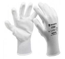 0899401110 Перчатки защитные трикотажные, покрыты полиуретаном WHITE RU